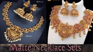 Matte Finish Necklace sets for wholesale price