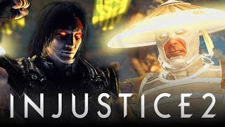"Injustice 2: ALL Raiden Intros w/ ""Mortal Kombat"" Character References! (Injustice 2: DLC Raiden)"