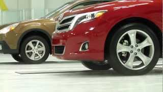 2013 Subaru Outback vs. 2013 Toyota Venza All-Wheel Drive Traction Test—AMCI Testing Certified