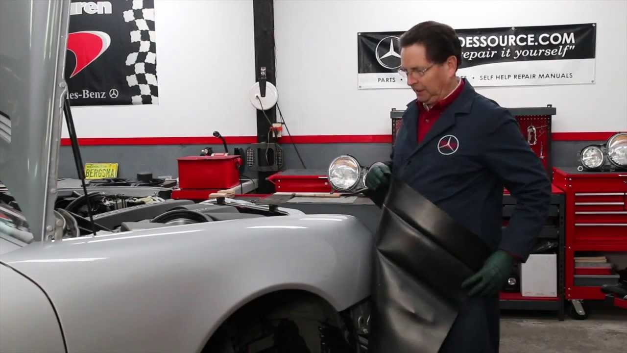 Diy Car Repair Quick Tip 10 How To Keep Your Fender Cover In Place When Working On Your Engine