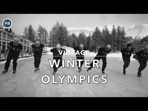 Vintage winter Olympics