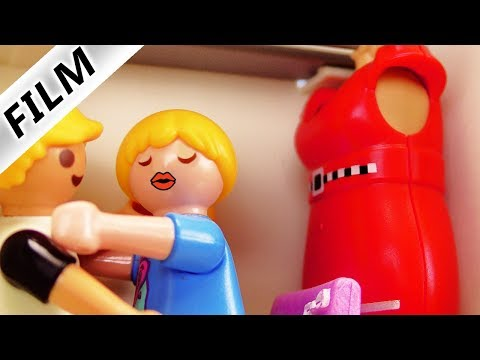 Playmobil Film deutsch   HANNAH & PHILIPP IN SCHRANK GESPERRT - Knutschen die beiden? Familie Vogel