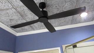 Kitteridge 52 in. Indoor Matte Black Ceiling Fan Demo Video