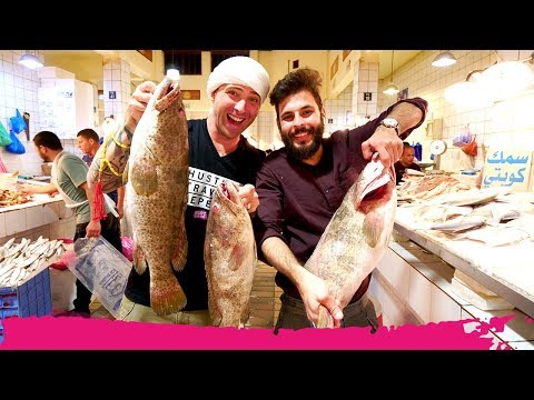 Kuwaiti FISH MARKET - You CHOOSE They COOK at Souk Al Mubarakiya | Kuwait City, Kuwait