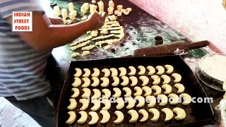 Making of Chand or Moon Biscuits in Bakery