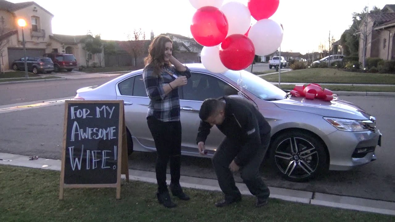 Honda Surprise! Man Surprises Wife with New Accord Touring ...