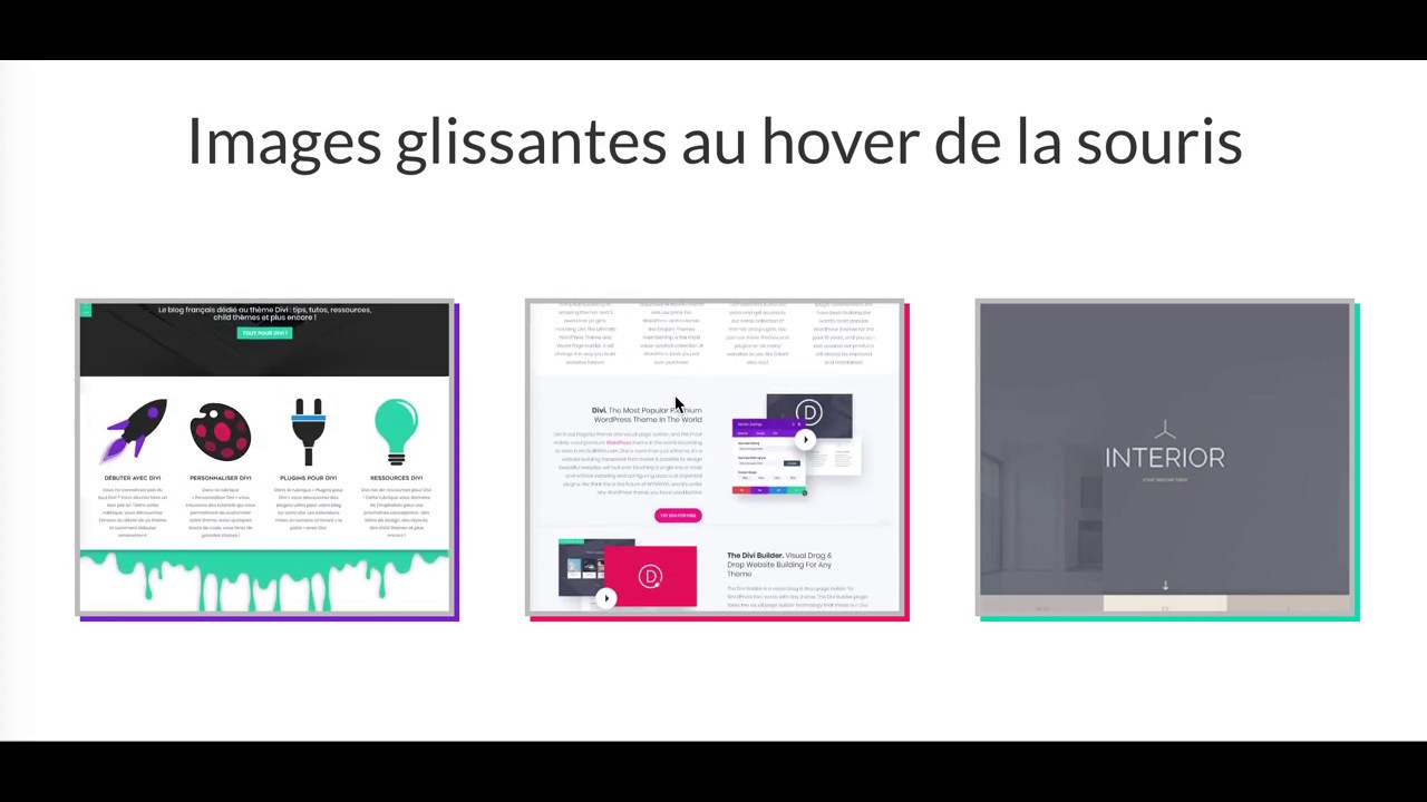 Scroll an image when you hover the mouse with the DIVI BUILDER