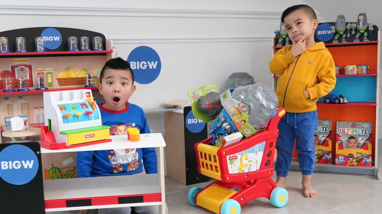 My Own BIG W Store Pretend Play Fun Calvin Kaison
