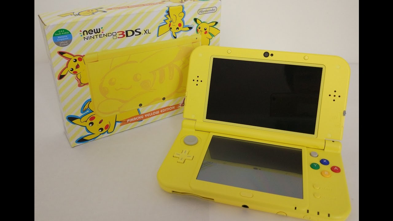 Pikachu yellow edition new 3ds xl unboxing volcanion for 3ds xl pikachu achat