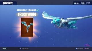 *NEW* LEGENDARY FROSTWING GLIDER! FORTNITE BATTLE ROYALE