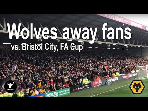 Loud Wolves Fans Away At Bristol City In The FA Cup