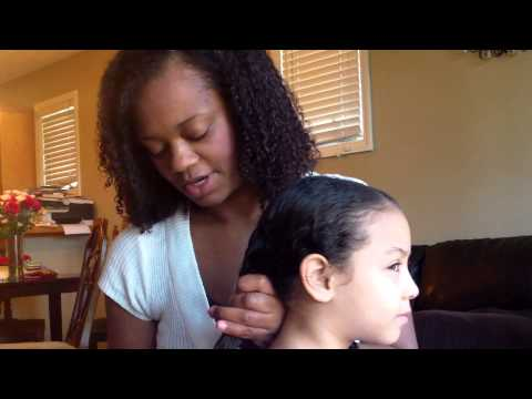 how to comb mixed kids hair  youtube