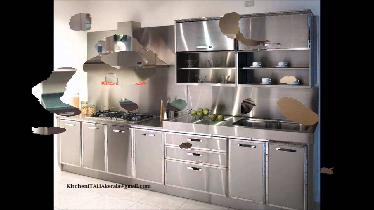 Low Cost Stainless Steel Finish Aluminium Kitchen Kerala