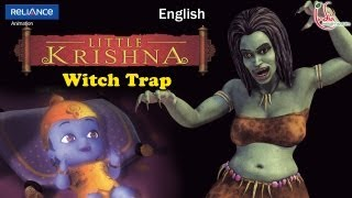 "LITTLE KRISHNA ENGLISH EPISODE 13 ""WITCH TRAP"" ANIMATION SERIES"