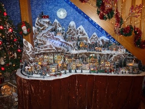 Construction village de no l 2011 lemax youtube - Village de noel miniature ...