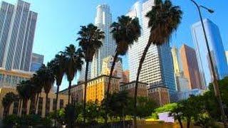 Tour de Centre Ville de Los Angeles, Californie ~*~ Ramble (ASMR fr)