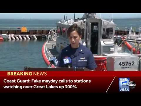 Coast Guard press conference on fake mayday calls