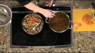 Poblano Black Bean Chili with Avocado Crème - Irish Eyes - Tuesday, January 27, 2015