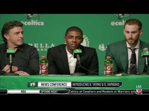 Kyrie Irving - Gordon Hayward Boston Celtics Press Conference ᴴᴰ