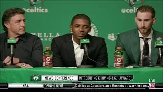 Kyrie Irving - Gordon Hayward Boston Celtics Press Conference ᴴᴰ