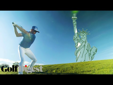 Rickie Fowler Hits Golf Ball Higher Than the Statue of Liberty | High Shot Challenge | Golf Digest