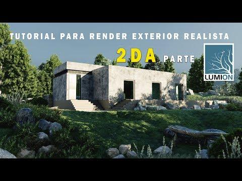 LUMION 9 RENDER EXTERIOR REALISTA   CASA DE CAMPO PARTE 2