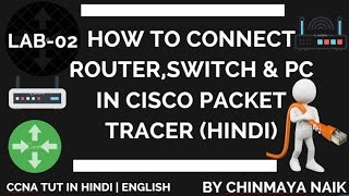 how to connect router switch and pc in cisco packet tracer in hindi   lab 2