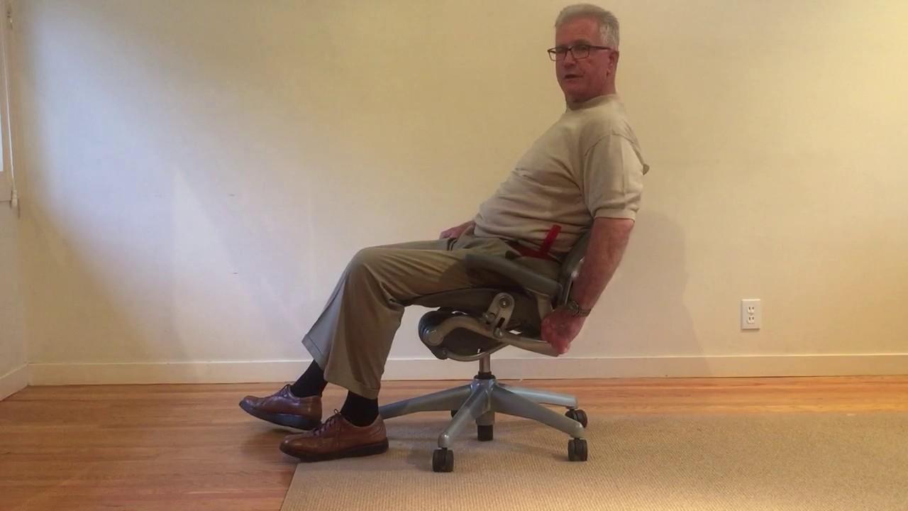 HM Aeron chair adjustment for spine posture and ergonomics ...