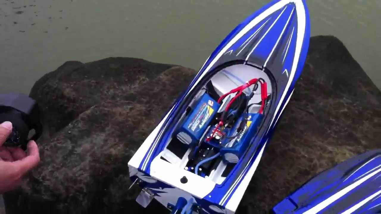 Rc Speed Boat 6s Dual Packs In Parallel 10 000 Mah Traxxas