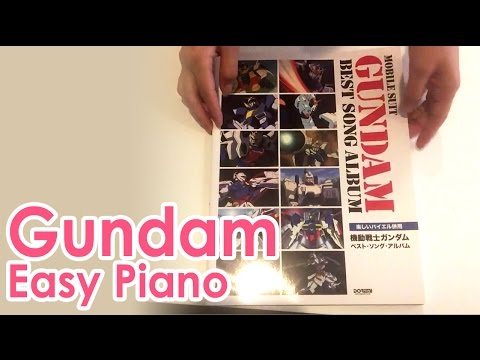 Gundam Best Song Album Piano sheet music book