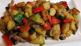 🥕 Rahmbratkartoffeln mit Gemüse vegan