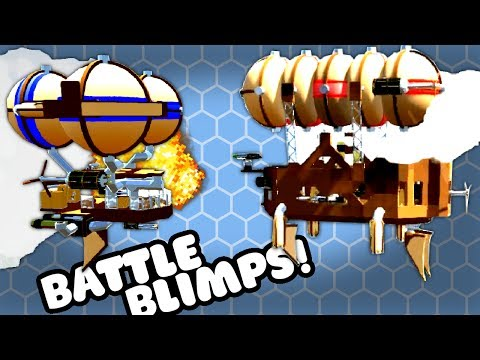 BUILD AND FIGHT BLIMPS! - Airmen Gameplay Multiplayer #1