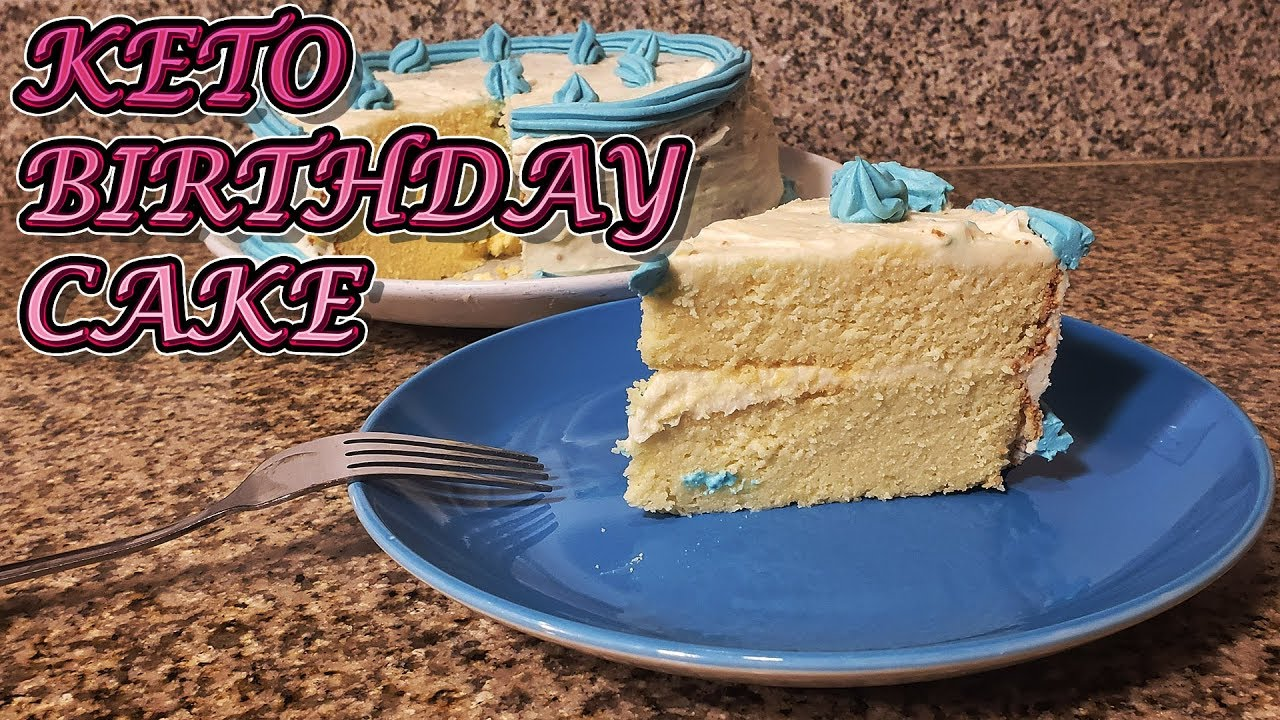 How To Make Keto Cake Keto Cake Recipe Keto Birthday Cake Youtube