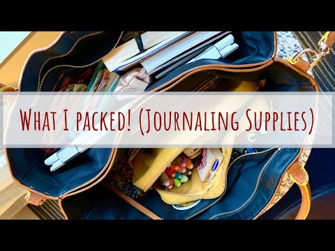 What I Packed! Travel Journal + Art Supplies For A Weekend Getaway