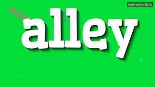 ALLEY - HOW TO PRONOUNCE IT!?