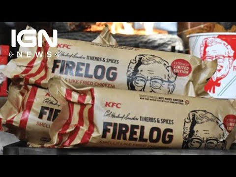 Aaron Zytle - KFC's Fire Logs That Smell Like Fried Chicken Are Back