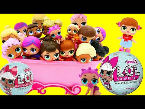 LOL SURPRISE BALLS New Characters Surprise Toys 7 in 1 Pee Spit Cry & Color Change + Kids Alex & Ava