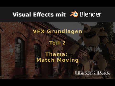 Blender Tutorial - VFX/Filmproduktion - Grundlagen Teil2 - Matchmoving