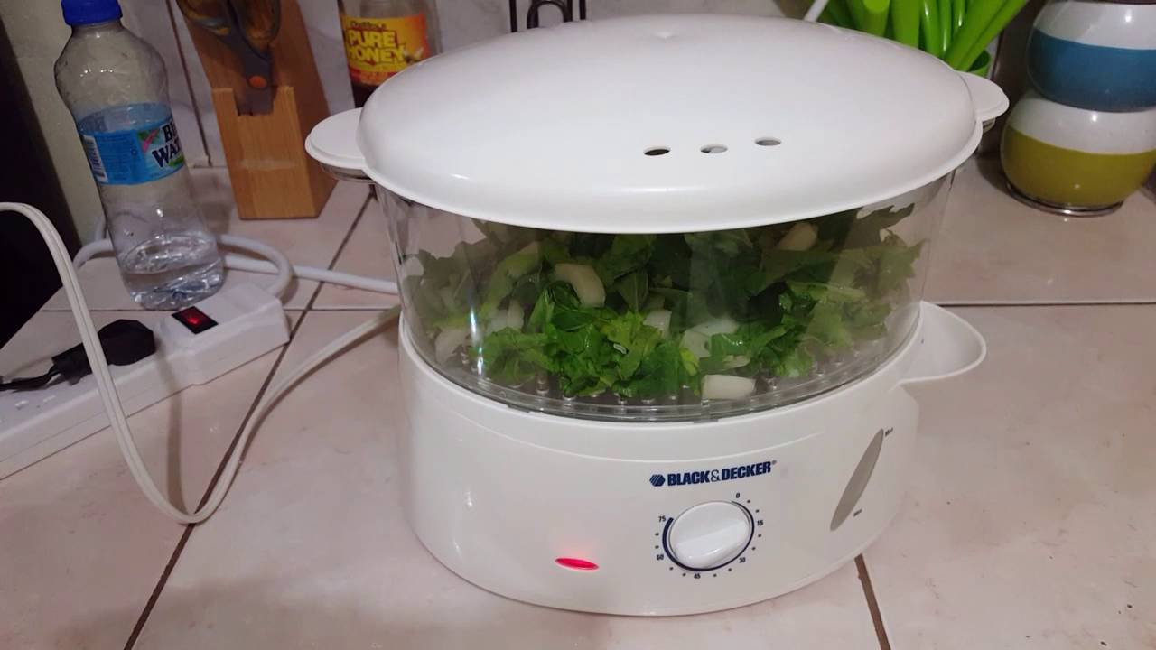 How to steam patchoi in a Black & Decker Steamer