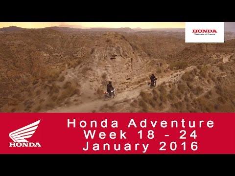 Honda Adventure Week 18 - 24 January 2016