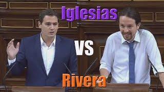 Tremenda respuesta de Pablo Iglesias a Albert Rivera en la moción de censura (14/06/2017)