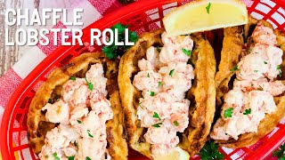 Keto Low Carb Chaffle Lobster Roll