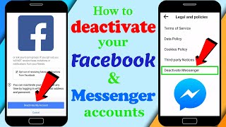 How to deactivate your Facebook and Messenger accounts | deactivate messenger |  Updated 2020