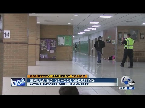 Amherst Simulated Active Shooter Scene