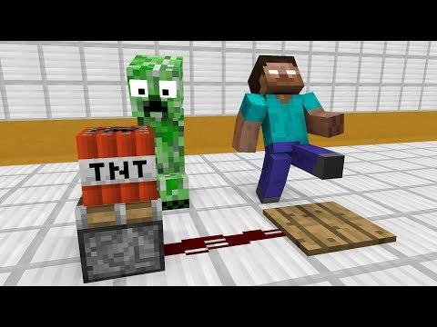 Monster School: Redstone Builds - Minecraft Animation