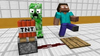 - Monster School Redstone Builds Minecraft Animation