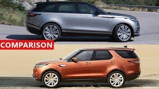 2018 Range Rover Velar vs 2017 Land Rover Discovery SUV Comparison - Interior, Exterior...