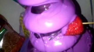 purple chocolate fountain