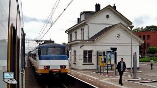 Oudenbosch mit/met NS Sprinter, ICs: VIRM, E 186, Goederen-Lokomotief 6515   Offene Fenster Mitfahrt