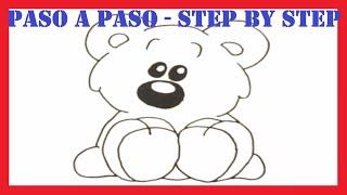 Como dibujar un Oso de Peluche l How to draw a Teddy Bear l Dibujos l Drawings